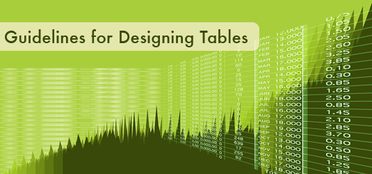 Post image for Guidelines for Designing Tables