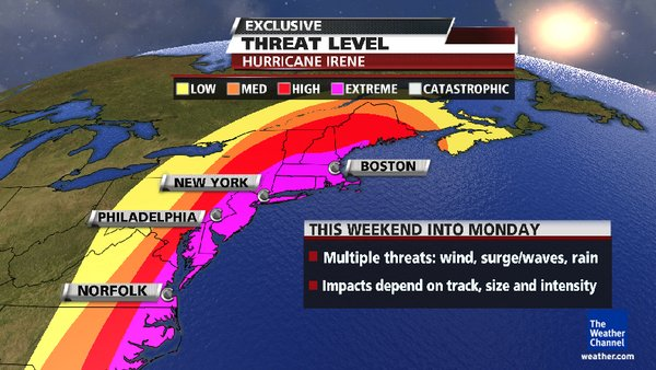Communicating Critical Visual Information Hurricane Irene – Weather Channel Travel Map