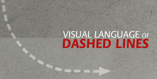visual language of dashed lines